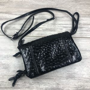 Black speckled textured purse